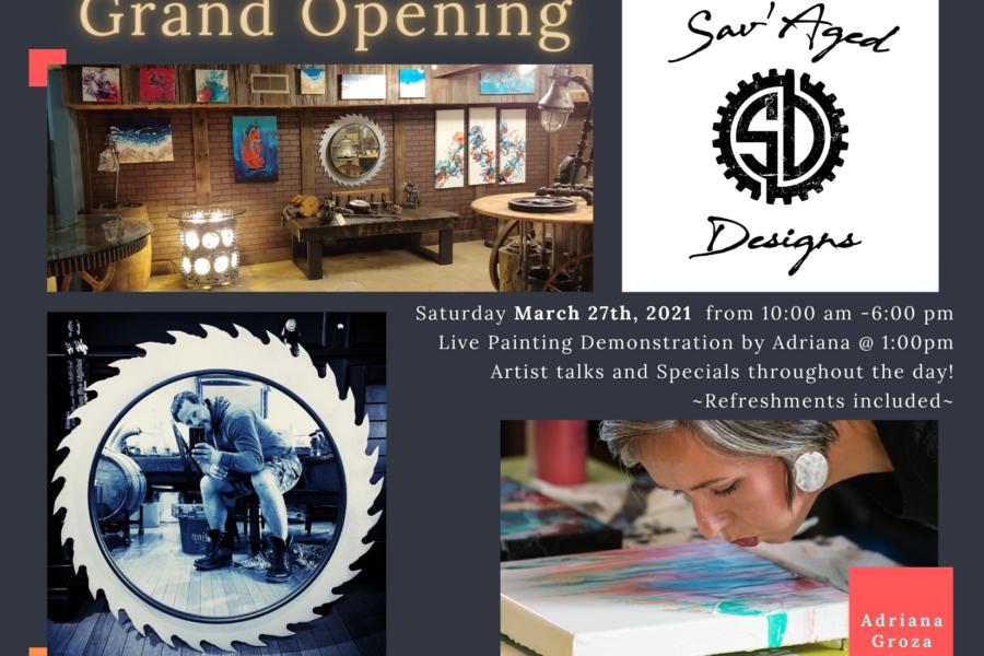 Sav'Aged Designs Gallery Grand Opening- Press