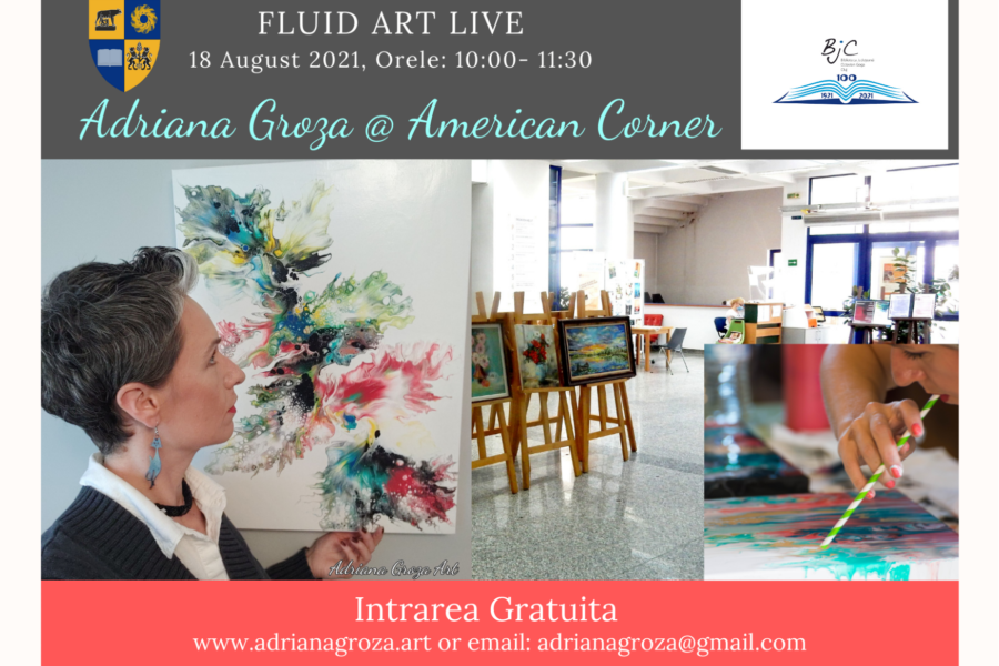 Fluid Art @ American Corner, BJC Cluj- Napoca